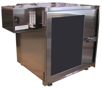 Single Compartment Desiccator Cabinets 18x18x18 with Flow Gauge by Cleanroom World
