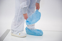 Cleanroom Shoe Covers, SureGrip, Anti-Skid, Universal Size, Blue, 4500 pairs/case  AP-SH-X1272-B  by Cleanroom World