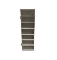 """Eyeglass Holders, White PVC with Acrylic Door, 7 Shelves  7""""W x 24""""H x 4""""D By Cleanroom World"""