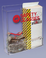 "Safety Glass Dispensers - Double - Acrylic  16""W x 15""H x 4""D  AK-229-12 by Cleanroom World"