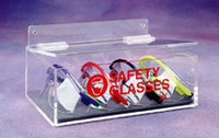 "Safety Glass Dispensers - Acrylic   9""W x 3""H x 6""D   AK-230  by Cleanroom World"