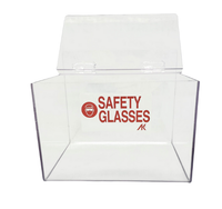 """Safety Glass Dispensers - Double - Acrylic   9""""W x 6""""H x 6""""D  AK-230-2  By Cleanroom World"""
