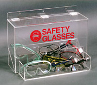 "Safety Glass Dispensers - Acrylic  18""W x 12""H x 10""D  AK-232  by Cleanroom World"