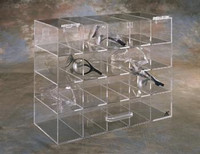 "Safety Glass Dispensers - Acrylic  15""W x 12""H x 6""D   AK-235  by Cleanroom World"
