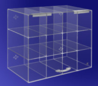 "Safety Glass Dispensers - Acrylic  14""W x 12""H x 8""D   AK-238  by Cleanroom World"