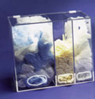 "Acrylic All-Purpose Dispensers - 3 Compartments  20""W x 18""H x 12""D  AK-1479  by Cleanroom World"