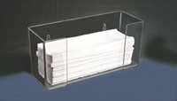 "Towel Dispensers - Acrylic  10-3/4""W x 6""H x 4""D  AK-275  by Cleanroom World"