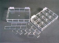 "Parts Dispensers - Mini - Acrylic  9-1/2""W x 1-1/2""H x 6-5/8""D  AK-532  by Cleanroom World"