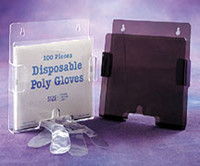 "Glove Dispensers - For Boxed Polyethylene Gloves - Acrylic  7-3/4""H x 8-1/4""H x 1-1/2""D  AK-750 by Cleanroom World"