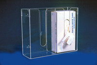 "Glove Dispensers - 2 Compartment - Acrylic  13""W x 11""H x 4-1/4""D   AK-777-2 by Cleanroom World"