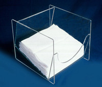 "Wipe Holders, Counter Top Dispenser With Lid   12-1/2""W x 7-1/2""H x 12-1/2""D   AK-106-L  by Cleanroom World"