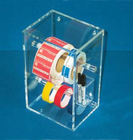 "Tape and Label Dispensers - Acrylic  8-1/2""W x 14""H x 6""D   AK-327  by Cleanroom World"