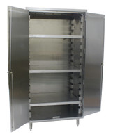 Storage Cabinets, 3 Shelves, Type 430 Stainless Steel by Cleanroom World