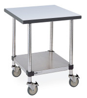 "Stainless Steel Tables With Wheels, Metro Tables, 30""x48""x34""H by Cleanroom World"