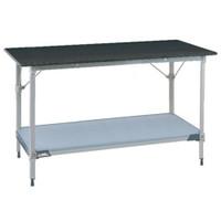 Lab Table, Metro, Phenolic Black Top, Solid Shelf, Backsplash By Cleanroom World