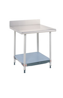 Stationary Lab Table Metro, Phenolic Top, Shelf, Backsplash By Cleanroom World