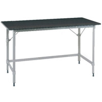 Stationary Lab Table, Metro, Phenolic Top, 3 Sided Frame By Cleanroom World