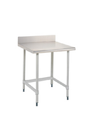 "Stationary Lab Tables, Metro Tables, 4"" Backsplash, 3-Sided Frame By Cleanroom World"