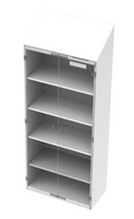 "Cleanroom Storage Cabinets, White Painted Steel, 24""x48""x90""H by Cleanroom World"