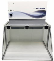 Horizontal Negative Pressure Cabinet with Sloped Front by Cleanroom World