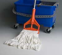 MicroNova Mop, Cleanroom, NovaKnit String Mop, Washed, Polyester, 12oz by Cleanroom World
