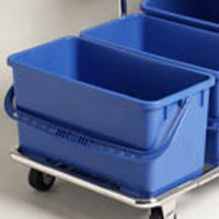 Mop Buckets with Casters, Blue by Cleanroom World