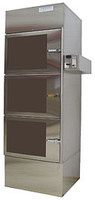 Desiccator Cabinets, Stainless Steel, 3 Comparetments, 24x14x24 by Cleanroom World