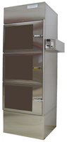 Desiccator Cabinets, Stainless Steel, 3 Compartments, 24x16x24 by Cleanroom World