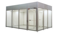 Hardwall Cleanroom Accessory        - Split Wall Panel on the CAP-591 Cleanroom by Cleanroom World