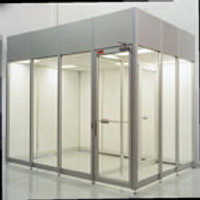 Acrylic Cleanroom Double Door by Cleanroom World