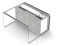 """Table Top Inflow Air Stream Clean Bench with 17"""" Acrylic Hood by Cleanroom World"""
