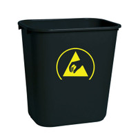 ESD Trash Bin, Conductive Plastic by Cleanroom World