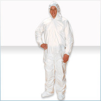 Disposable Cleanroom Coveralls, ComforTech, Microporous Material, Attached Hood, Boots, Elastic Wrist, 25/case, 2XL  AP-CV-J4C92-5  by Cleanroom World