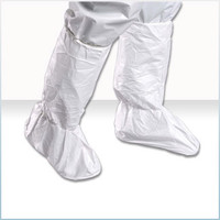 """Cleanroom Boot Covers, Microporous Material, 18""""H, Ultra Grip Sole, Medium, 100 pairs/case by Cleanroom World"""