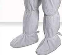 """Cleanroom Boot Covers, 18""""H, Elastic Top, Ankle Ties, Universal Size, 100 pairs/case  By Cleanroom World"""