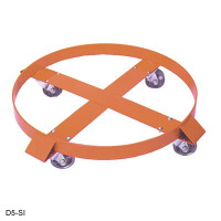 Steel Drum Dolly, 55 Gallon, Rubber Casters by Cleanroom World