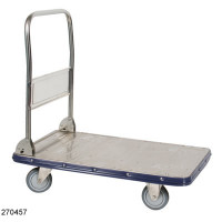 "Stainless Steel Folding Handle Carts, 22.5""x 34"" by Cleanroom World"