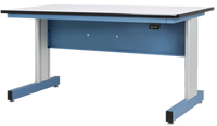 """ESD Adjustable Height Workstations, Electric, Gray Base, 30""""x60"""" by Cleanroom World"""