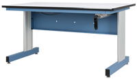 """Adjustable Height ESD Workstations, Sky Blue, 30""""x60""""  by Cleanroom World"""