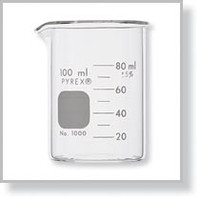 Measuring Beakers; Pyrex Glass, 100 ml, 12/Pack By Cleanroom World