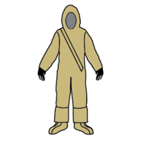 Kappler Zytron 300 Chemical Suits, NFPA Certified, Front Entry, Attached Hood and Booties, Neoprene Gloves By Cleanroom World