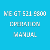 Operation Manuals for Particle Counters, ME-GT-521-9800 By Cleanroom World
