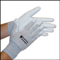 Inspection Gloves - ESD, NYLON, UNCOATED, DISSIPATIVE NYLON, SEAMLESS, WASHABLE, SIZE X-SMALL, TEC-GL4501