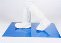 "Sticky Peel Off Mats 26""x45"" Blue by Cleanroom World"