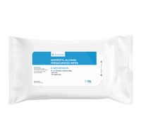 "Pre-saturated IPA Cleanroom Wipes, 100% IPA, Polyester/Cellulose Wipes, 8""x 8""  LT-SATC30100/20 By Cleanroom World"