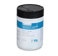 "Pre-saturated Cleanroom Wipes, Polyester Cellulose, 96%IPA, Canister, 6""x 8.5""  LT-LS964-685   By Cleanroom World"