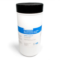 "Pre-saturated Cleanroom Wipes, Polyester Cellulose, 96% IPA, Canister, 9""x 17""  LT-LS964-917   By Cleanroom World"