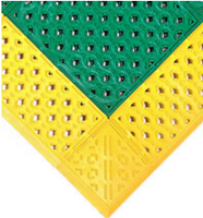"Emergency Shower Mats, Green/Yellow, 27""x30"" by Cleanroom World"