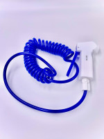 """DI Water Spray Guns and Coiled Hose, PTFE Gun, 1/4"""" FNPT Inlet Thread, Blue,Poly Coiled Hose by Cleanroom World"""