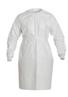 Cleanroom Tyvek Gowns, Ties in Back, Knit Wrists, IsoClean, Bulk Packaged, Universal Size  by Cleanroom World